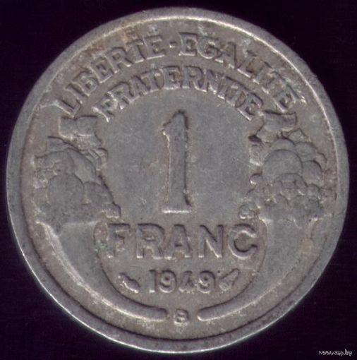 1 Франк 1949 год Франция B