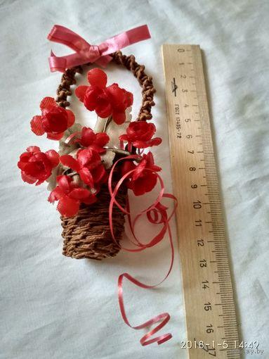 Сувенир.Корзинка с цветами.