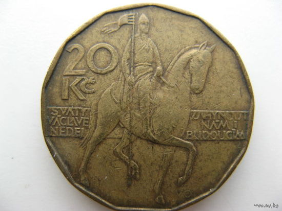 Чехия 20 крон 1993 г.