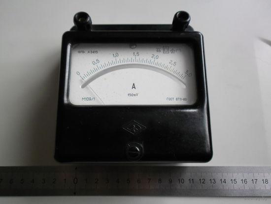 Прибор амперметр М109/1 на 3 ампера