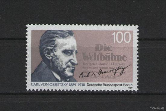 Западный Берлин 1989 г. Mi N 851** 100 лет с.д.р публициста Карла фон Осетски(Доставка Бесплатно)