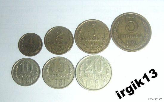 Годовой набор СССР 1981 года