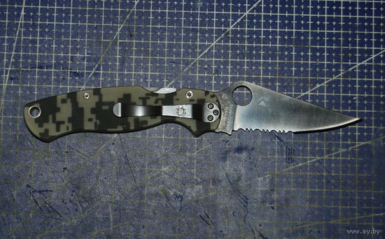 Нож Spyderco Paramilitary 2 полусеррейтор Китай