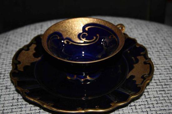 Чайная пара кобальт с золотом  Германия 50г