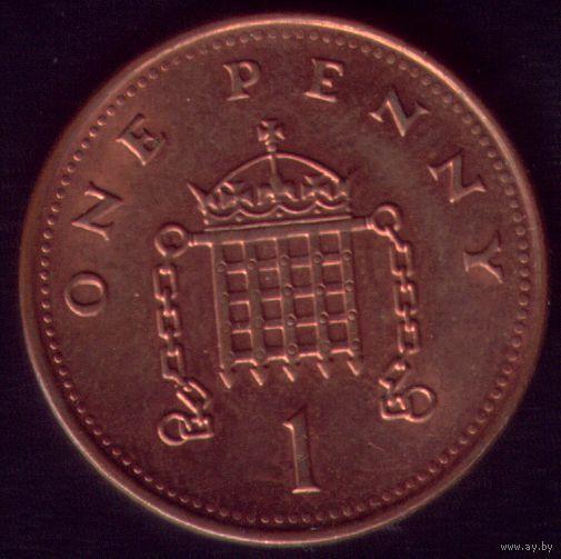 1 пенни 2001 год Великобритания