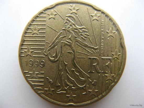 Франция 20 евроцентов 1999г.
