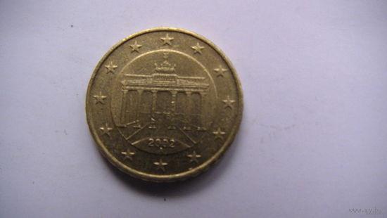 Германия 10 евроцентов А 2002г