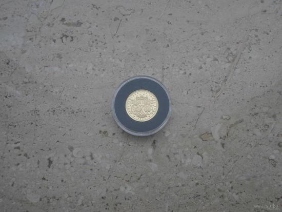 Медаль 10 лет евро евроцентам 2012 Германия золото