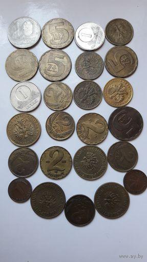 Иностранные монеты (одним лотом - 25 шт.).