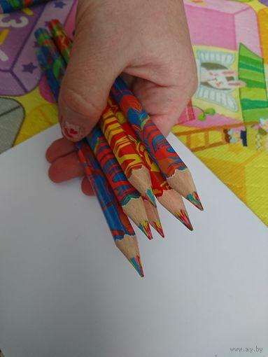Карандаши с многоцветным грифелем