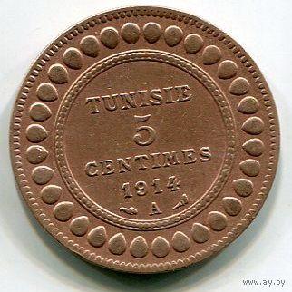 ТУНИС - 5 САНТИМ 1914