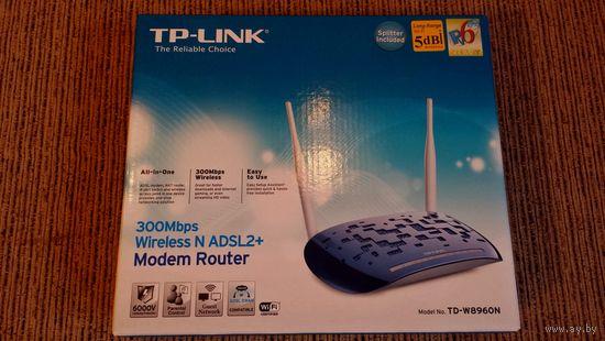 """Беспроводной DSL-маршрутизатор """"TP-Link TD-W8960N"""" (б/у)."""