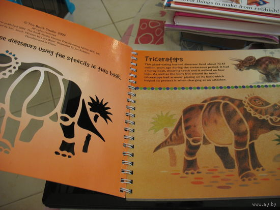 DINOSAUY. Stencilling book. Книга-трафарет о динозаврах