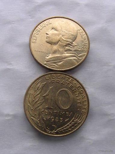 Франция 10 сантимов 1983г. распродажа