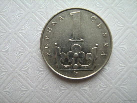 Чехия 1крона1993г.