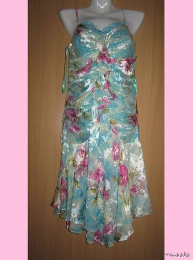 Платье из натурального шёлка по невероятно сниженной цене! р.46. Новое. Такое будет только у вас!