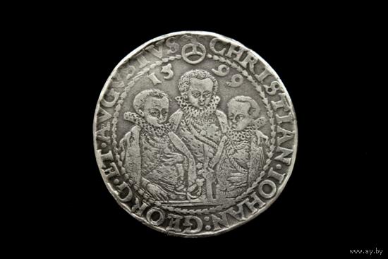 Талер 1599. Саксония. С украшения