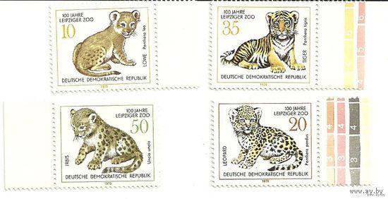 Фауна. 100 лет зоопарку Лейпцига. ГДР 1978 г. (Германия) Негаш.