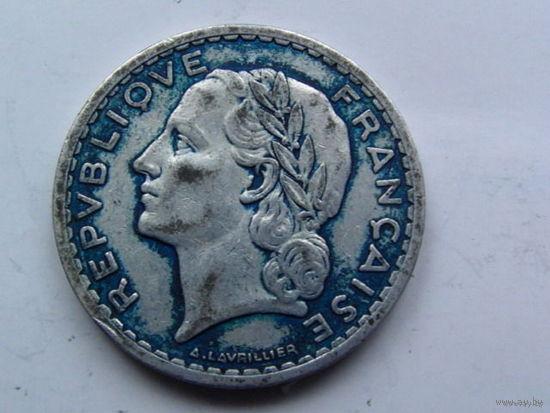 Франция 5 франков 1945г.  распродажа