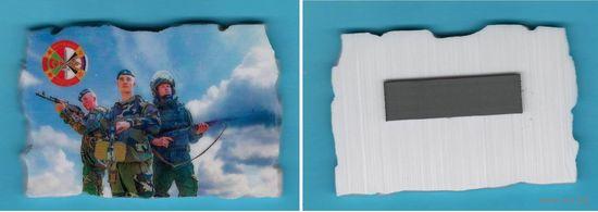 """W: Магнит на холодильник """"Учение Запад-2017"""", размер 80 х 55 мм, керамика"""