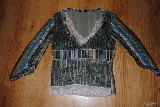"""Блуза женская-фирменная, качественная, из набора""""Лёгкий флирт"""",ИТАЛИЯ,-размер-40/42-44-CУПЕР-СКИДКА при покупке нескольких лотов сразу!"""