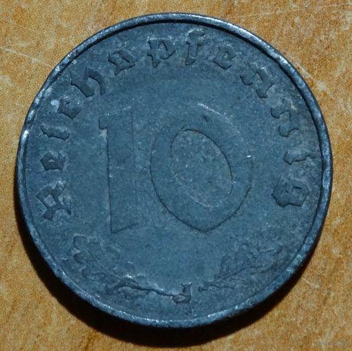 10 пф 1941 J --раскол штемпеля--  RRR
