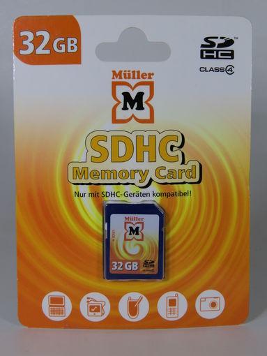 Карта памяти 32GB Muller SDHC class 4, Retail