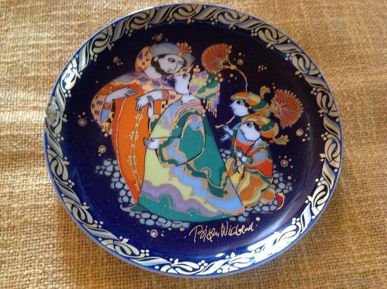 Тарелка коллекционная Rosenthal из серии Синдбад кобальт Скидка 20%!