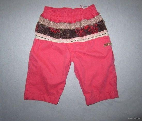 Классные розовые штанишки на весну-прохладное лето, р.62