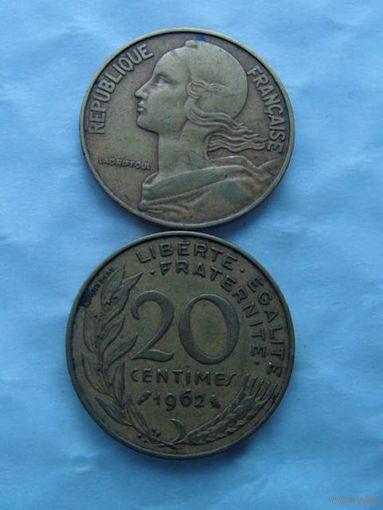 Франция 20 сентим 1962г   распродажа
