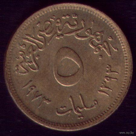 5 миллимов 1973 год Египет