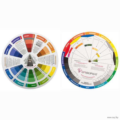 Цветовой круг АРТформат диаметр 20 см, картон.