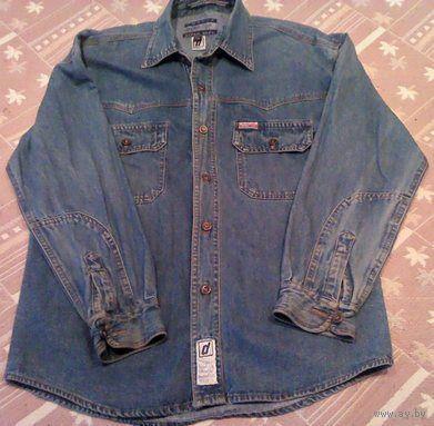 Подростковая джинсовая рубашка