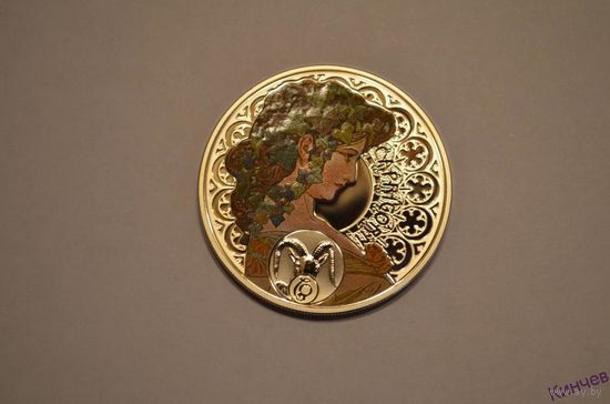 1 доллар 2010г. Ниуэ- Козерог (Муха). Серебро