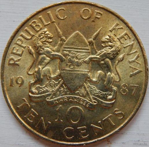 Кения 10 центов 1987 год