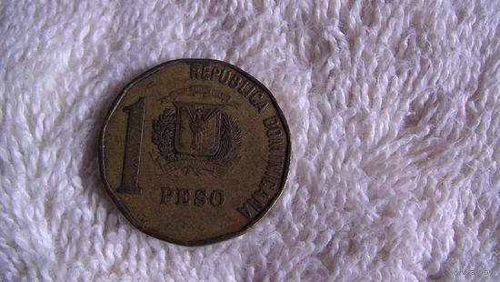 Доминиканская республика 1 песо 1991г. распродажа