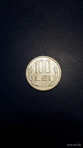 Румыния 100 леев 1993_km#111 - БОЛЬШАЯ -