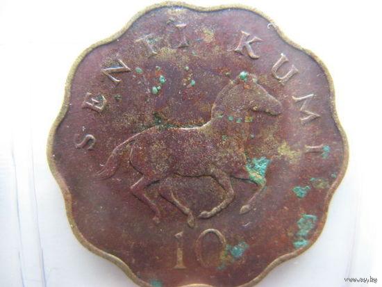 Танзания 10 центов 1979г.