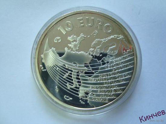 10 евро 2004год. Испания Серебро 925пр