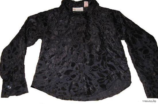Фирменная бархатная рубашка 6-8 лет
