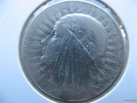 Польша 5 злотых 1932 г. Ядвига серебро (без отметки монетного двора)