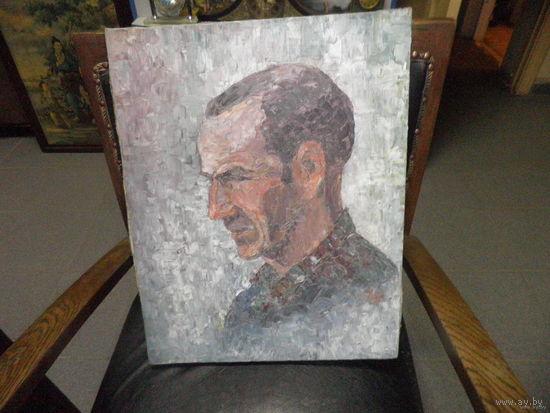 Портрет Неизвестного. Холст Масло Мастехин. Подпись неразборчива. 40х30