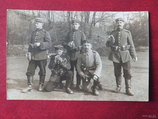 Германцы фляжки подсумки 1 Мировая война