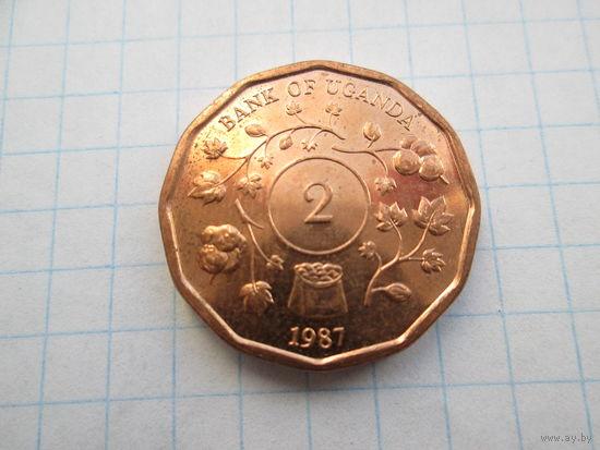 Уганда 2 шиллинга 1987 год