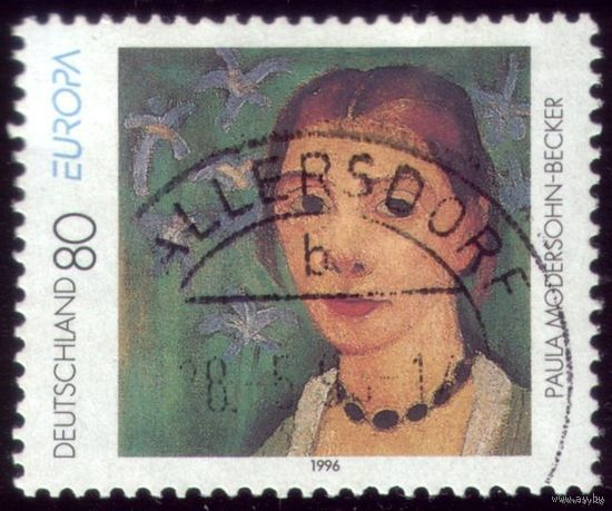 1 марка 1996 год Германия Живопись