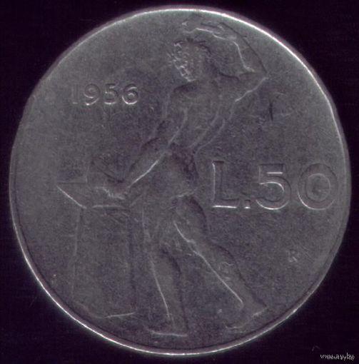 50 Лир 1956 год Италия