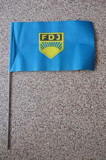 Флажок/ флаг бумажный FDJ (ГДР)
