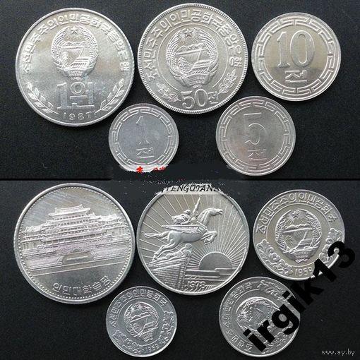 Северная Корея 5 монет UNC